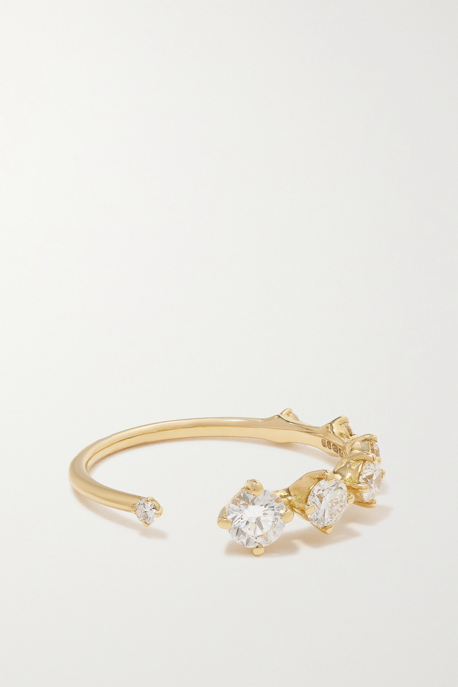 Fernando Jorge Sequence 18-karat gold diamond ring