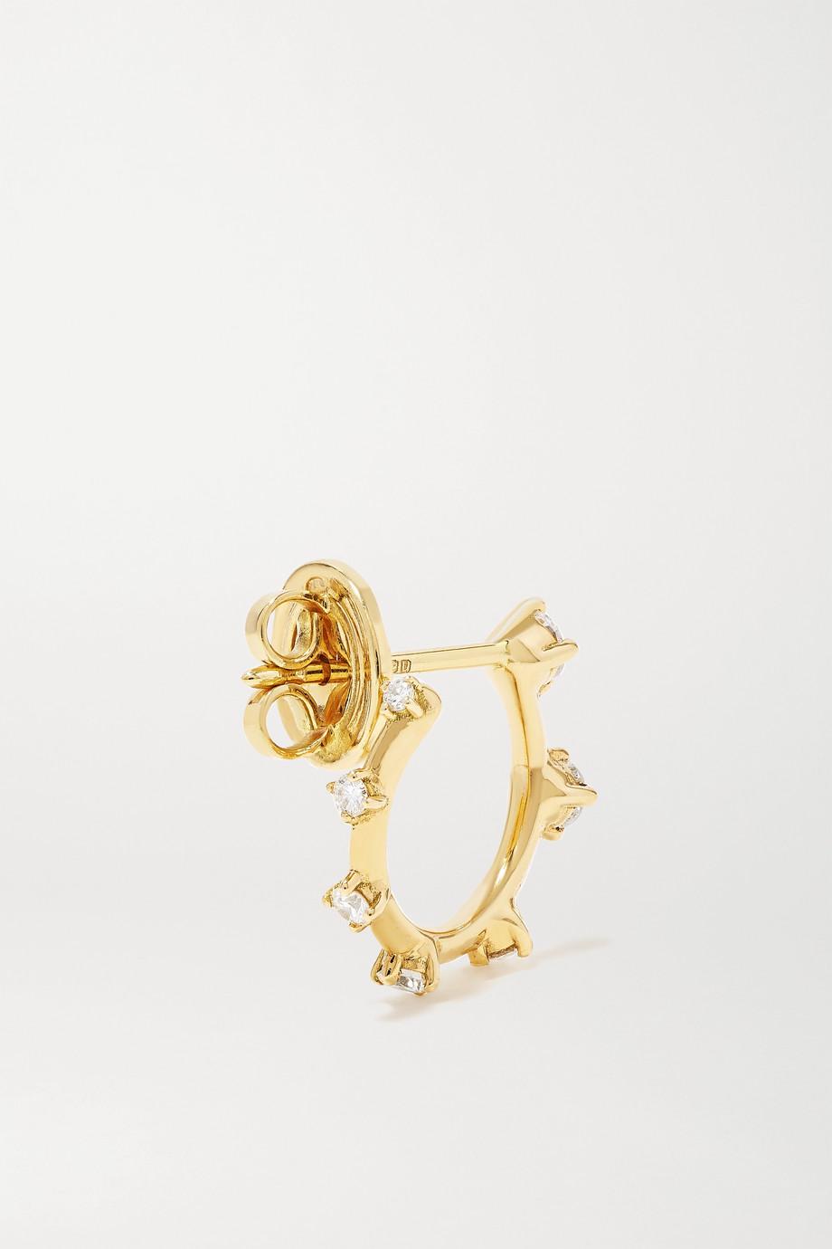 Fernando Jorge Small Sequence 18-karat gold diamond hoop earrings