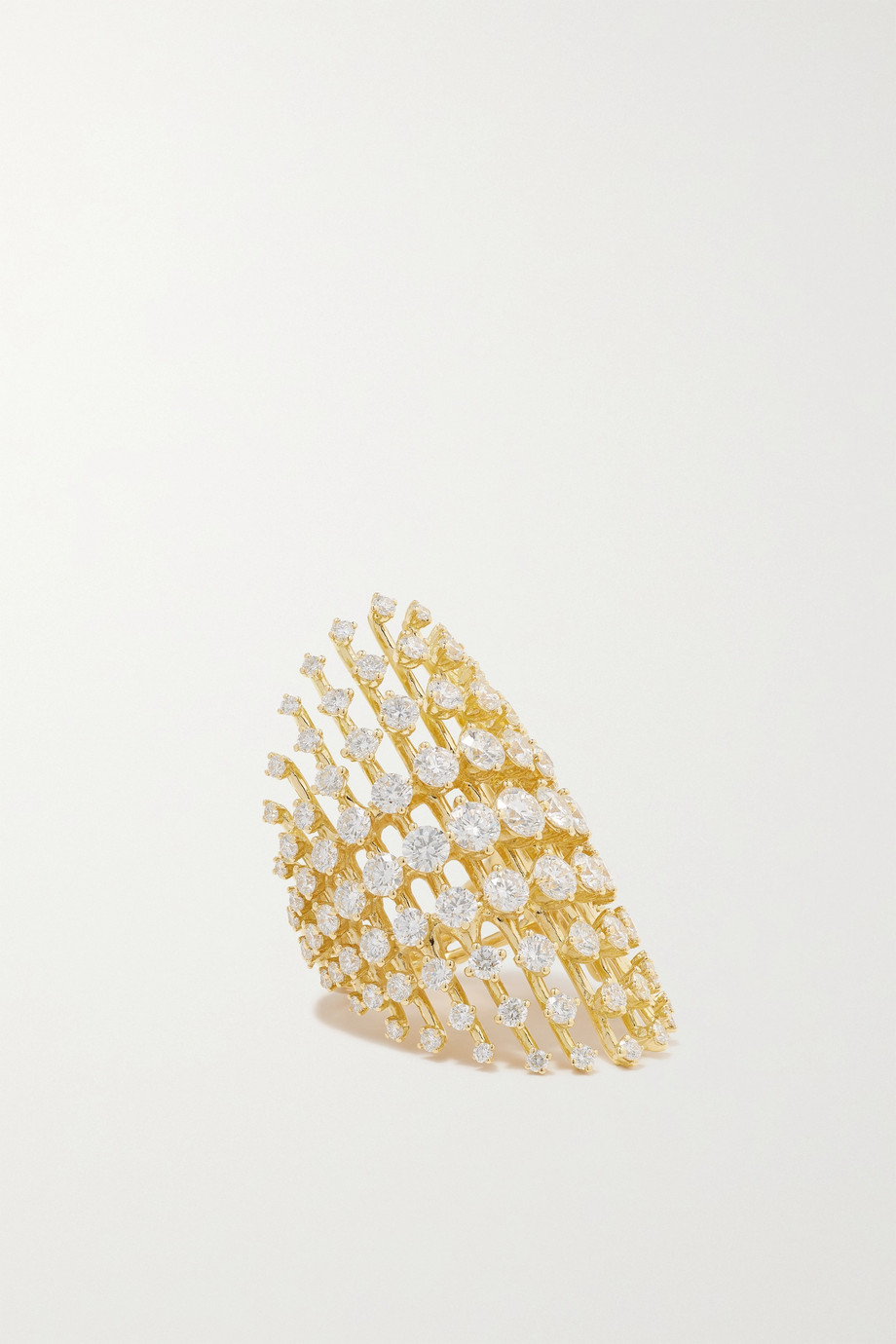 Fernando Jorge Disco 18-karat gold diamond ring