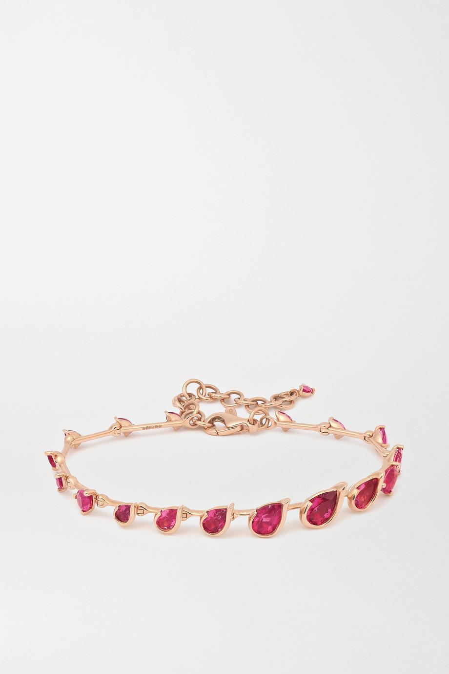 Fernando Jorge Flicker 18-karat rose gold rubellite bracelet