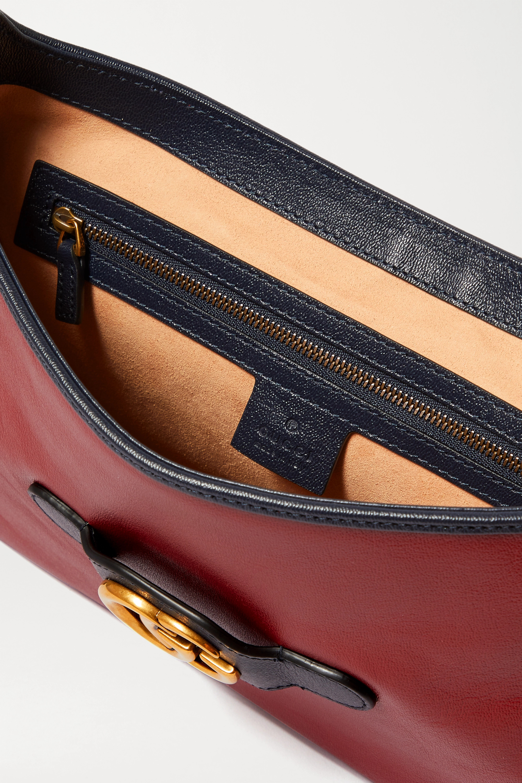 Gucci + NET SUSTAIN Dahlia medium color-block leather shoulder bag
