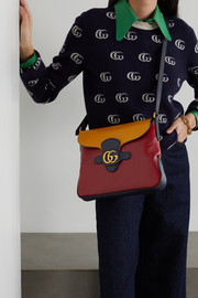 Gucci + NET SUSTAIN Dahlia medium color-block leather shoulder bag