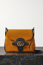 Gucci + NET SUSTAIN Dahlia small two-tone leather shoulder bag
