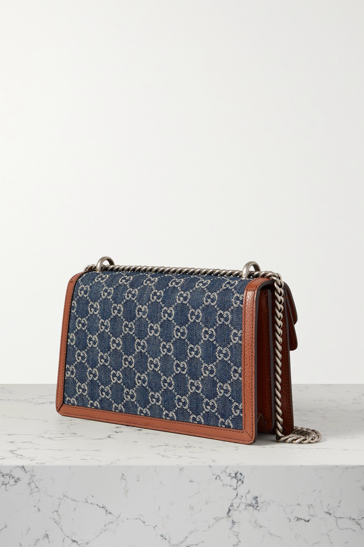 Gucci + NET SUSTAIN Dionysus small leather-trimmed organic denim shoulder bag
