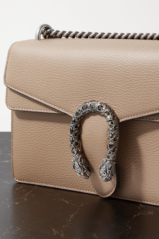 Gucci + NET SUSTAIN Dionysus kleine Schultertasche aus strukturiertem Leder