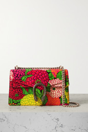 Gucci + Ken Scott Dionysus small floral-print leather shoulder bag