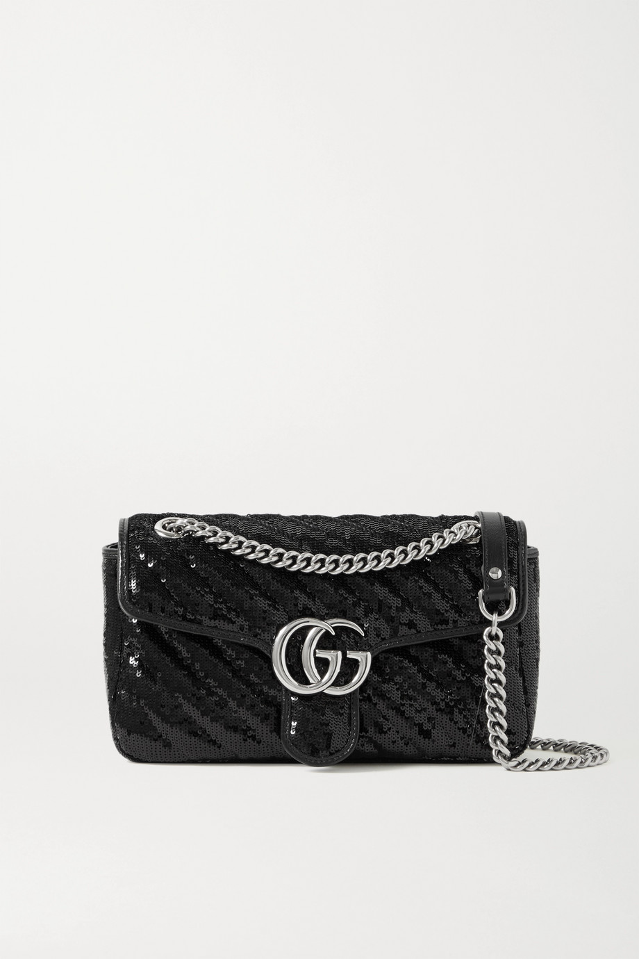 Gucci GG Marmont small sequined leather shoulder bag