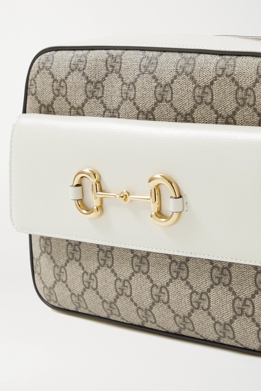 Gucci Sac porté épaule en toile enduite imprimée à finitions en cuir Horsebit 1955 Small