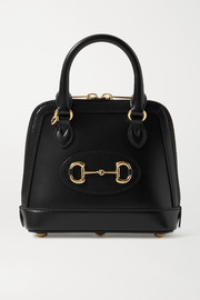 Gucci + NET SUSTAIN 1955 mini horsebit-detailed leather tote
