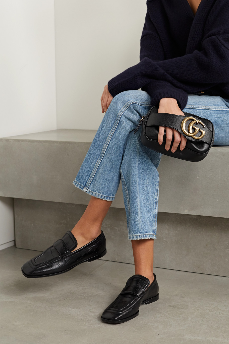 Gucci 【NET SUSTAIN】Dahlia 皮革手拿包