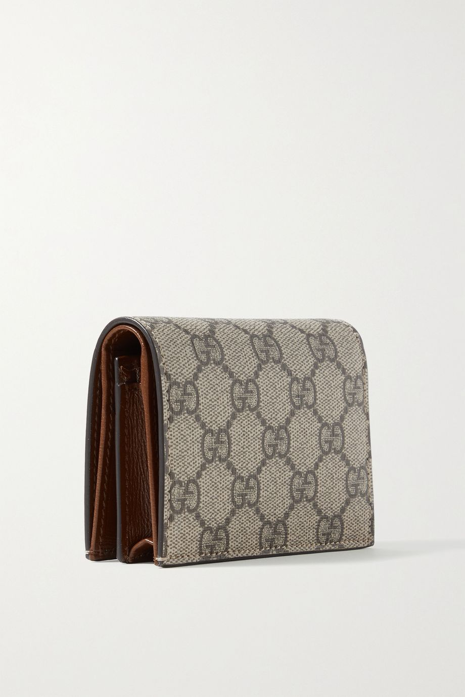 Gucci Printed coated-canvas and glossed-leather wallet