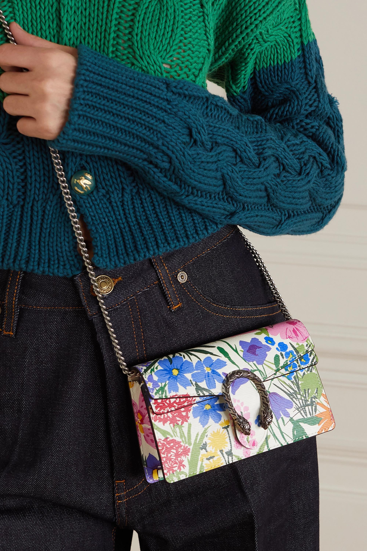 Gucci Sac porté épaule en cuir à imprimé fleuri Dionysus Super Mini x Ken Scott