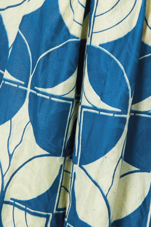 Odile Jacobs Jupe midi en coton ciré imprimé
