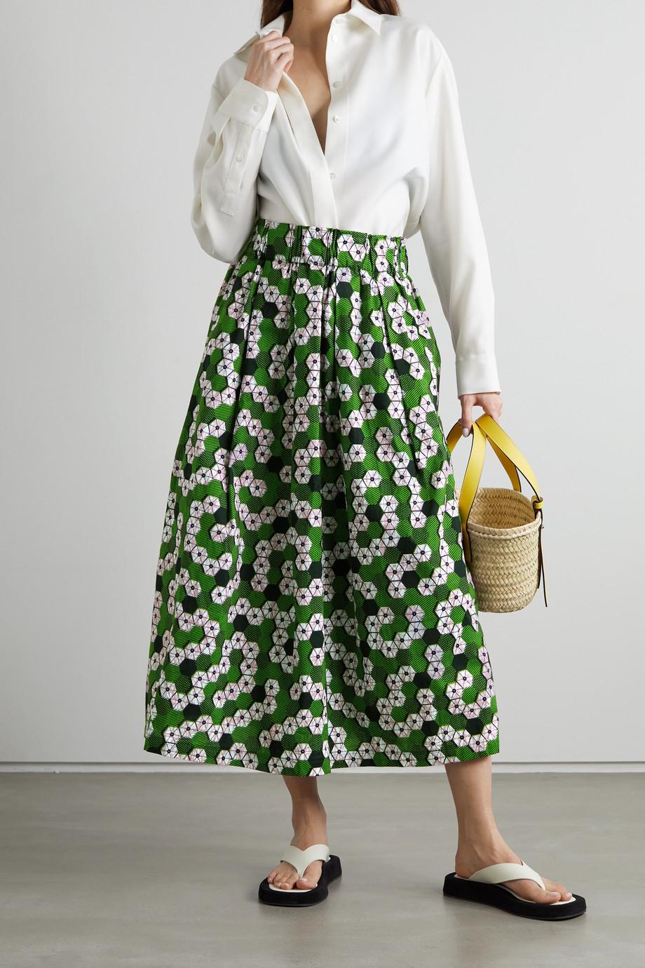 Odile Jacobs Midirock aus Baumwolle mit Wachsdruck