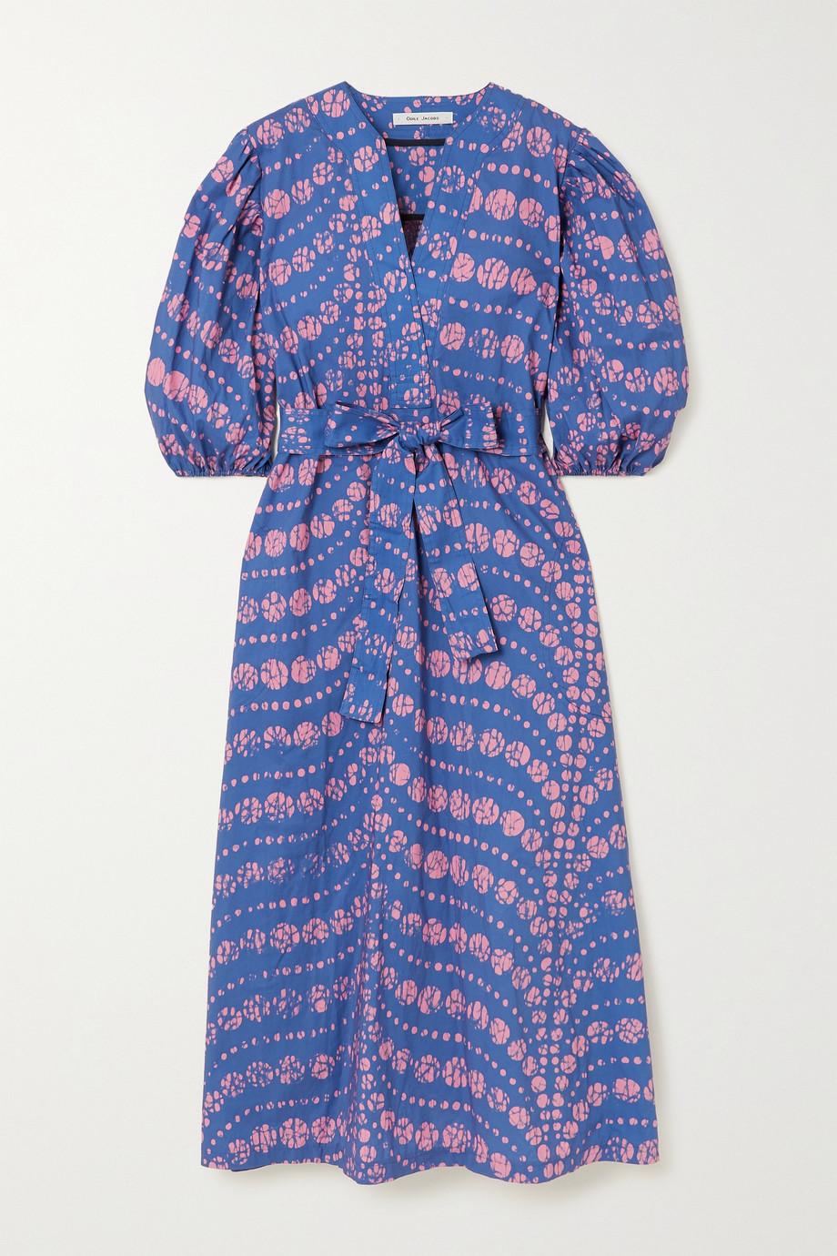 Odile Jacobs Midi-Wickelkleid aus Baumwolle mit Wachsdruck