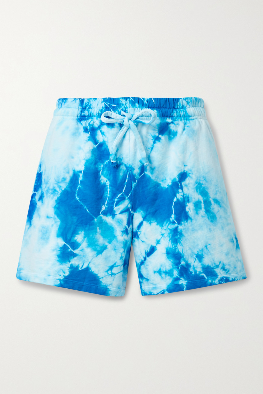 Year of Ours Tie-dyed cotton-jersey shorts
