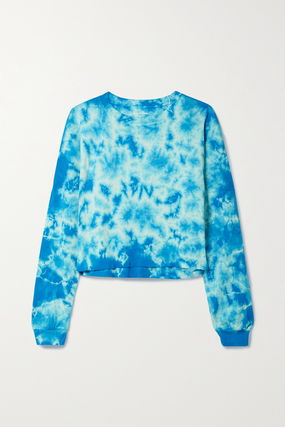 Year of Ours Cropped tie-dyed cotton-jersey top