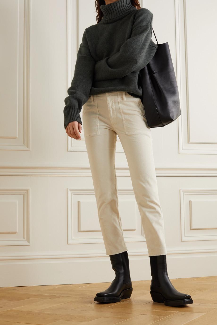 Nili Lotan Jenna cropped cotton-blend corduroy skinny pants