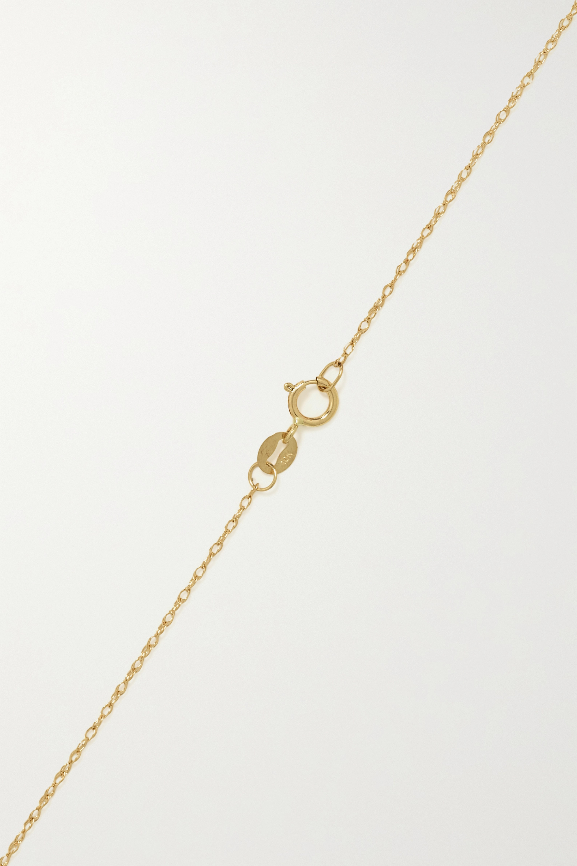 STONE AND STRAND Initial Kette aus 10 Karat Gold mit Perlen