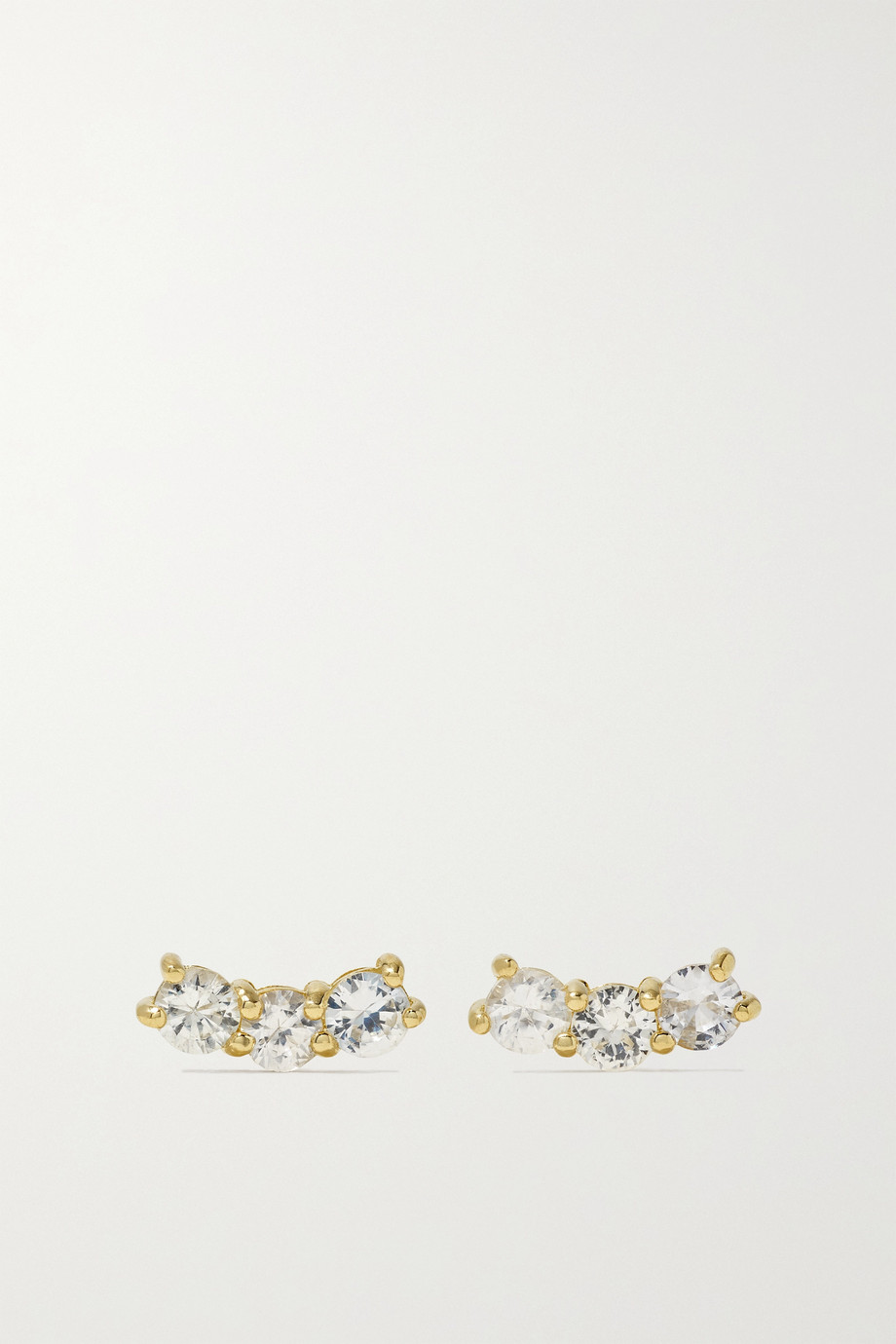 STONE AND STRAND Boucles d'oreilles en or et saphirs Shimmer Curve