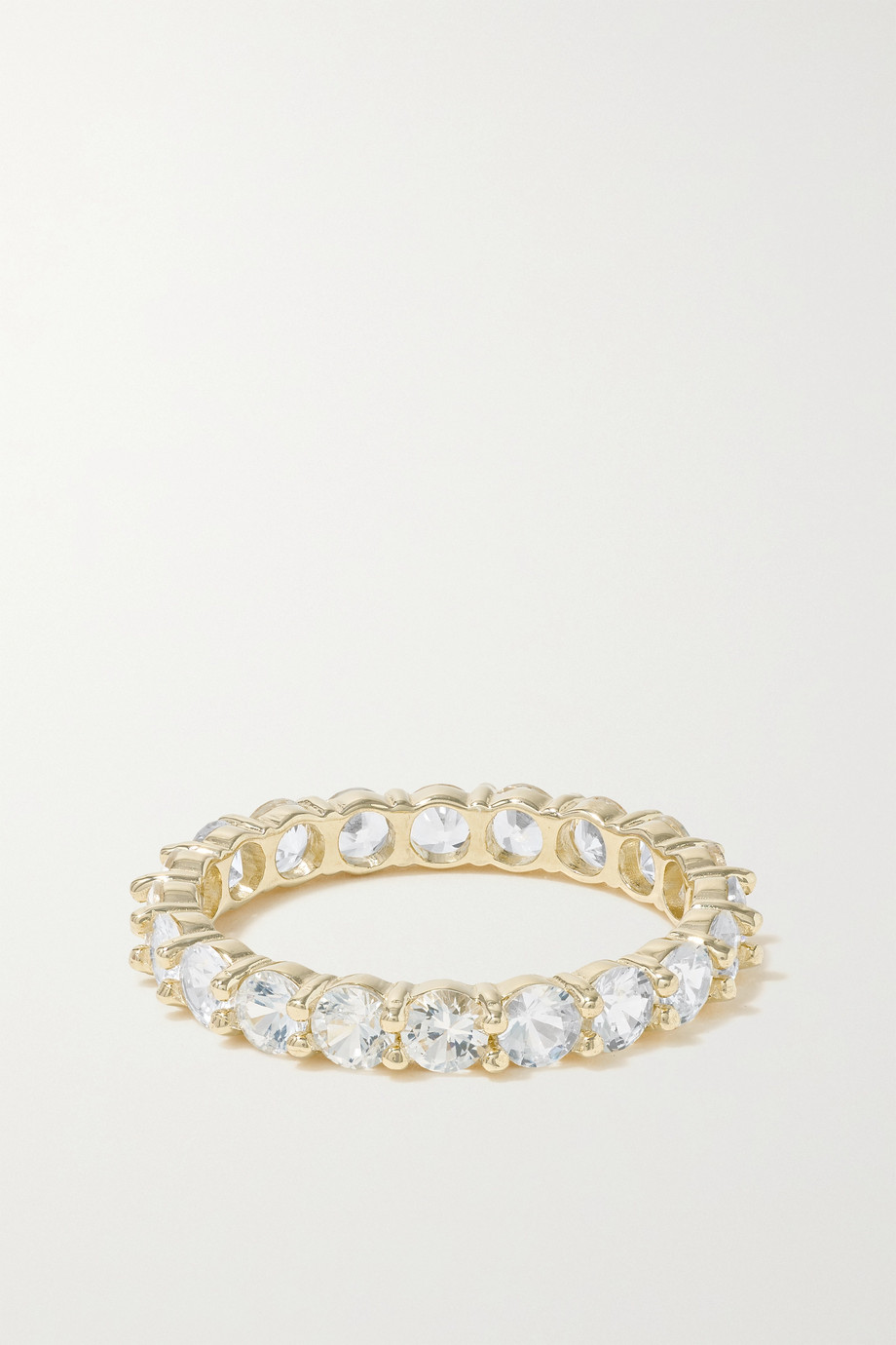 STONE AND STRAND Bague en or 10 carats (416/1000) et saphirs