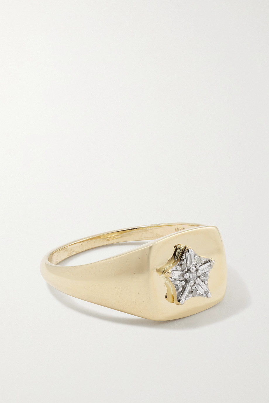 STONE AND STRAND Bague en or 10 carats (416/1000) et diamants Starbright