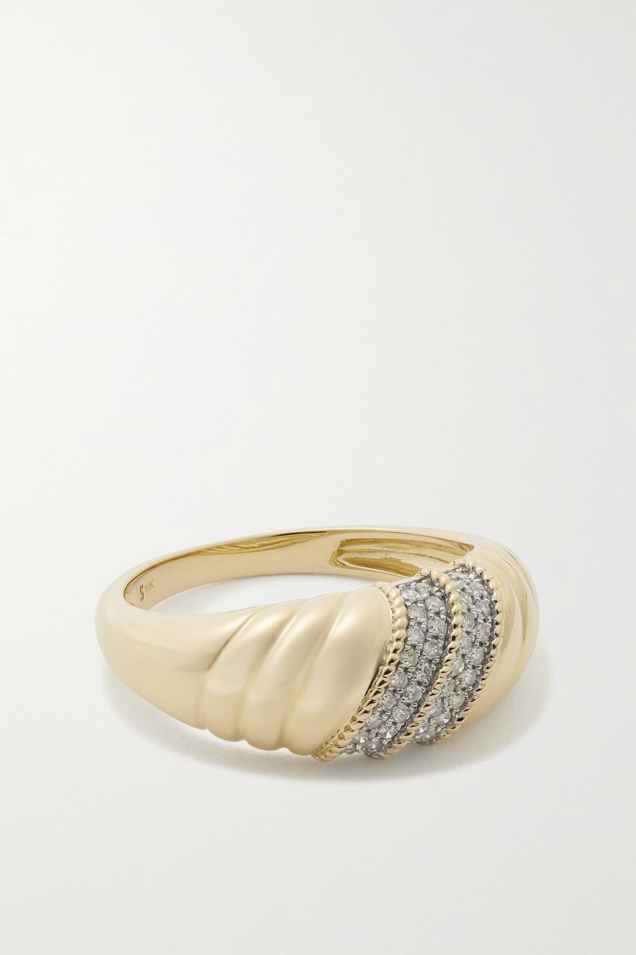 STONE AND STRAND Bague en or 10 carats (416/1000) et diamants Le Grande Cupola