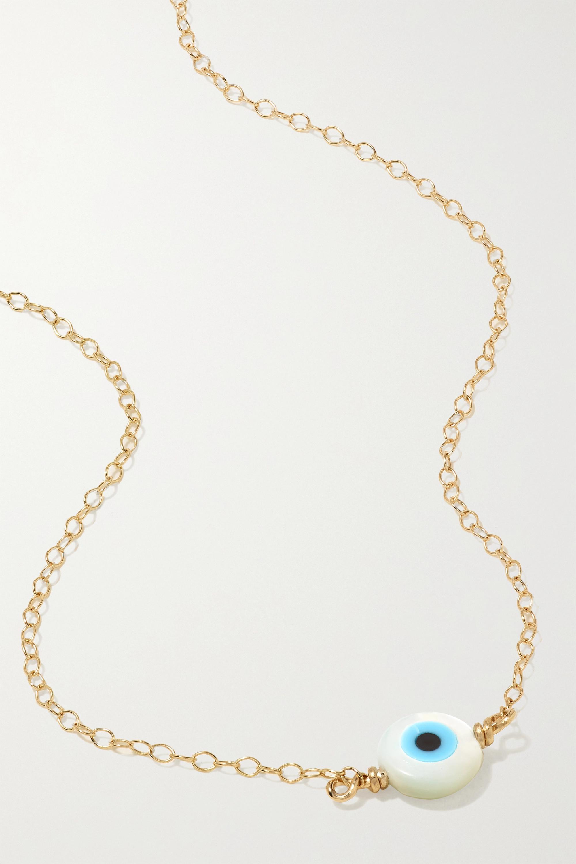 STONE AND STRAND Kette aus Gold mit Perlmutt und Emaille