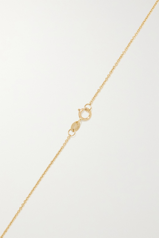STONE AND STRAND Large Evil Eye Kette aus 10 Karat Gold mit Diamanten