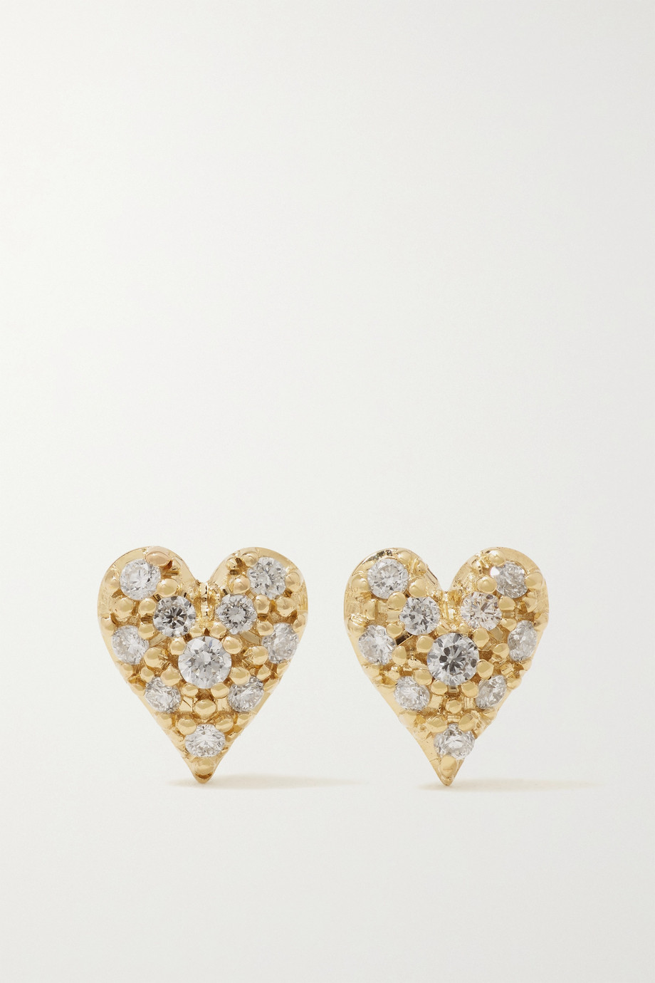 Mizuki 14-karat gold diamond earrings