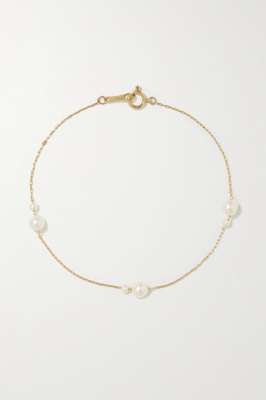 Mizuki Armband aus 14 Karat Gold mit Perlen