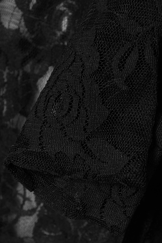 Norma Kamali Pussy-bow lace midi dress