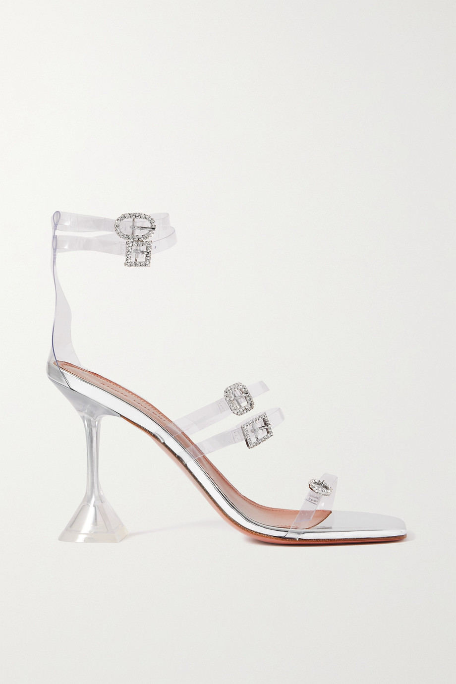 Amina Muaddi Sandales en PVC à cristaux Robyn