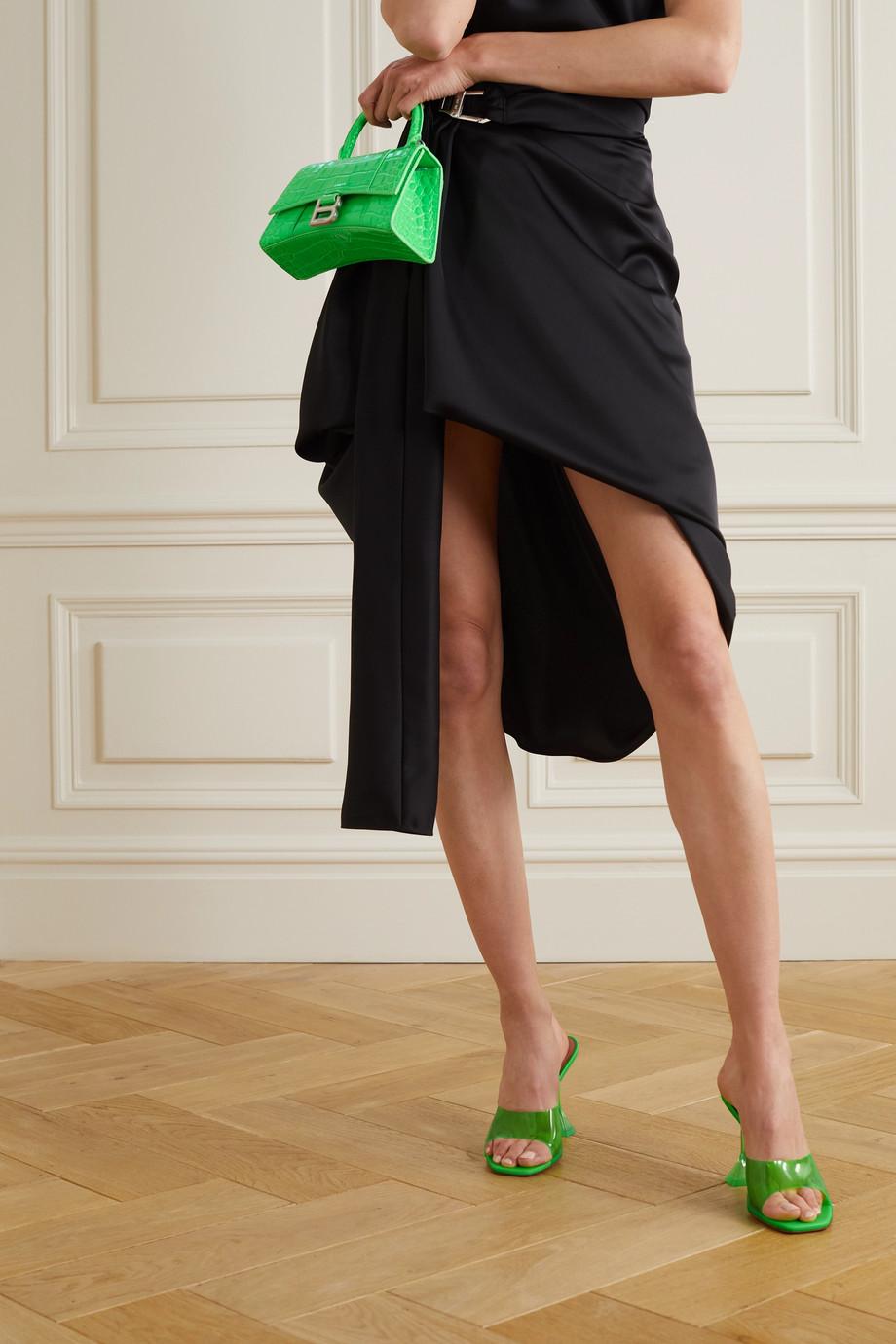 Amina Muaddi Mules en PVC et en cuir Lupita Glass