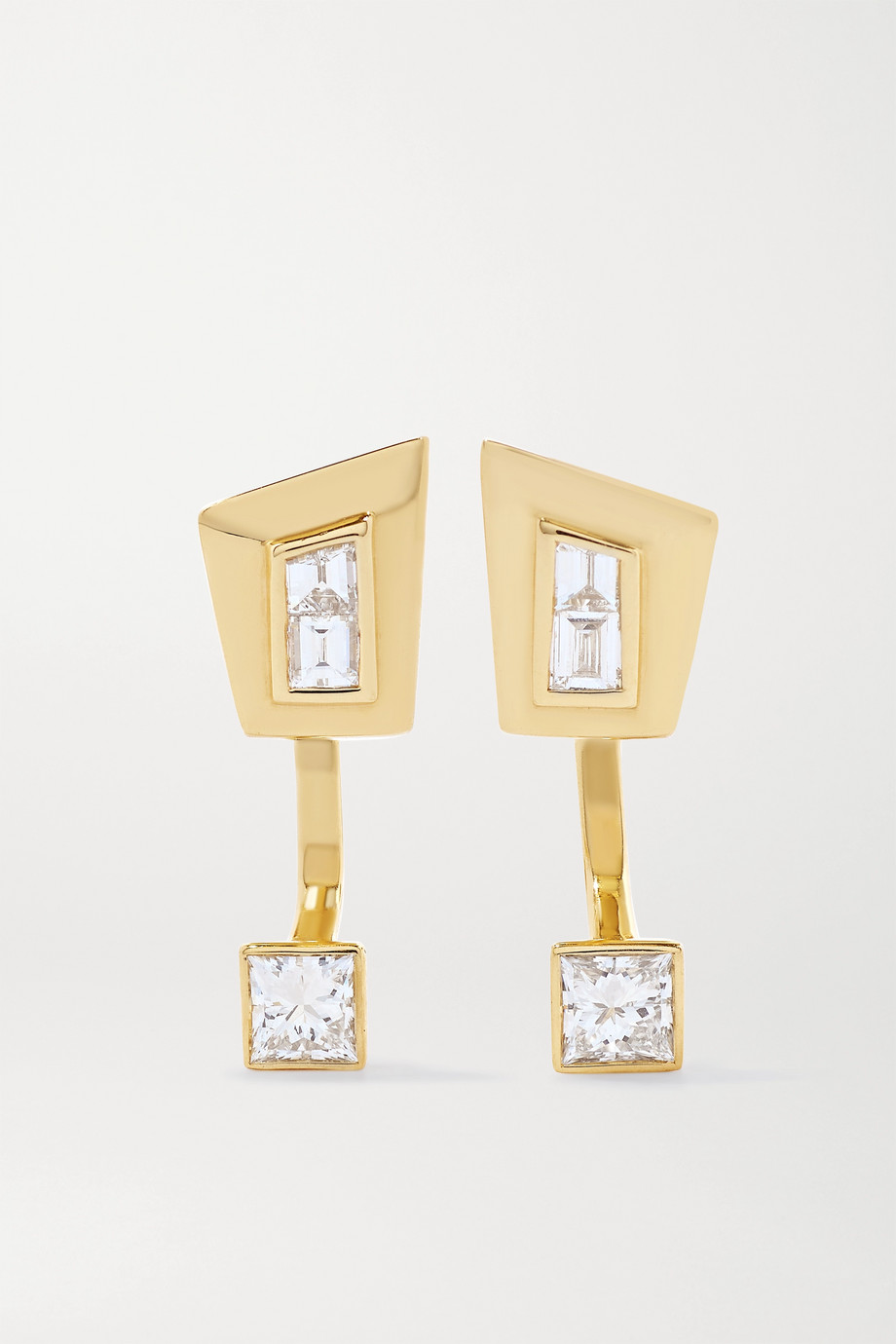 Stephen Webster + NET SUSTAIN Dynamite 18-karat recycled gold diamond earrings