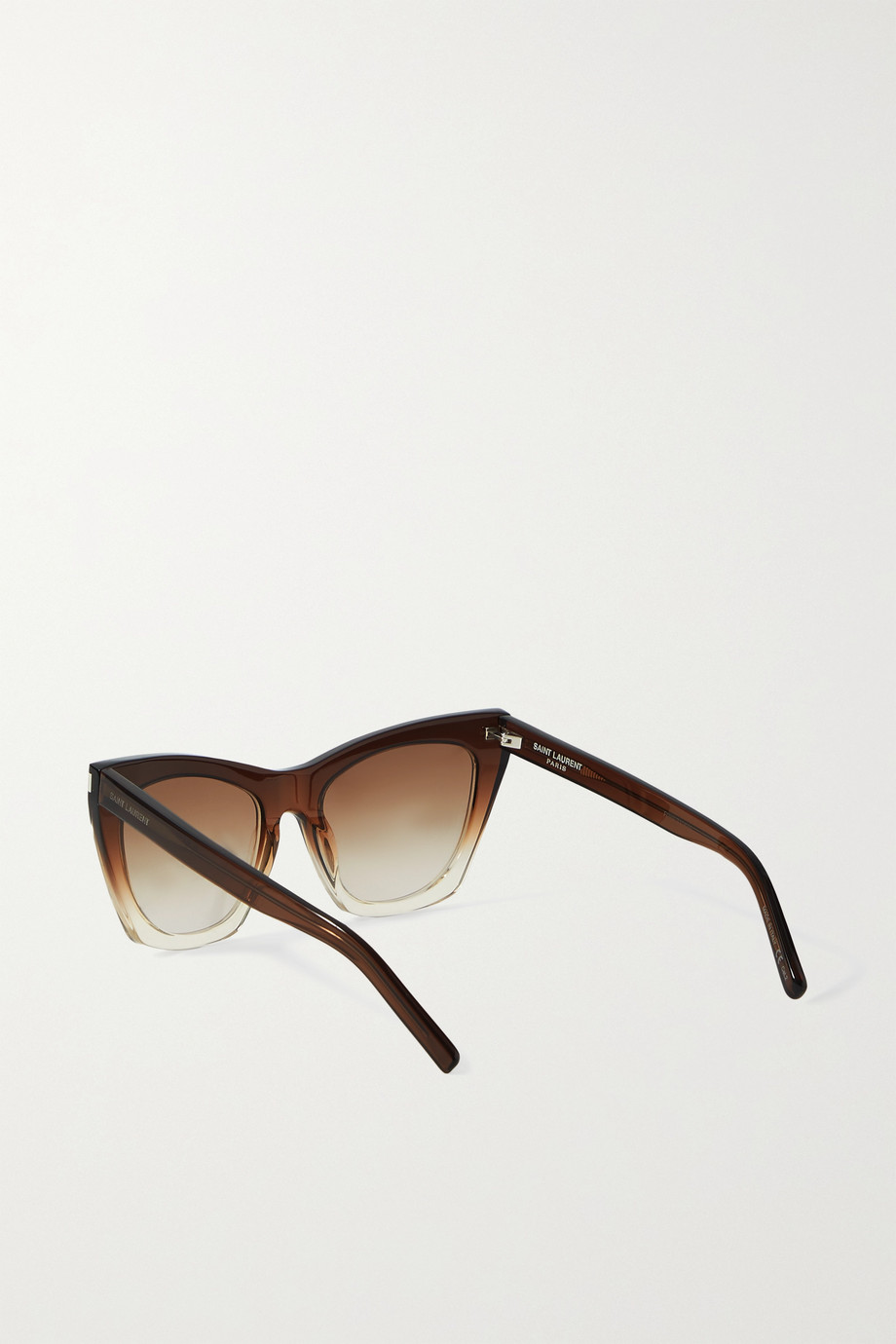 SAINT LAURENT Kate cat-eye acetate sunglasses