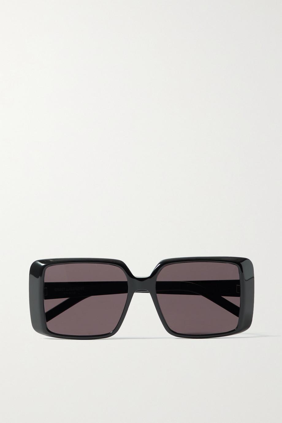 SAINT LAURENT Sonnenbrille mit eckigem Rahmen aus Azetat