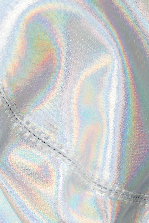Norma Kamali Iridescent underwired bikini top