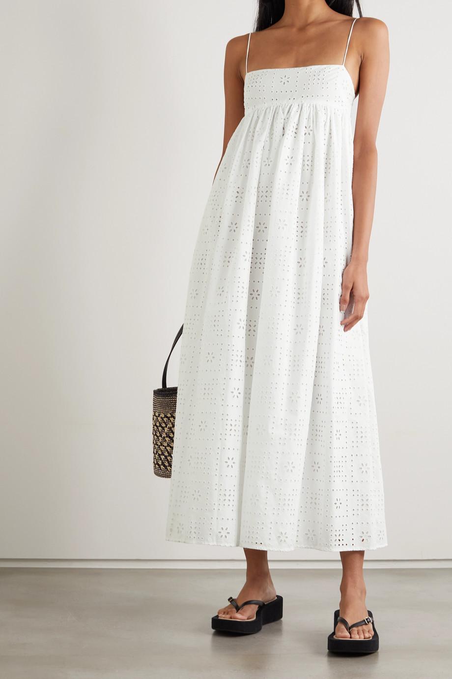 Matteau + NET SUSTAIN broderie anglaise organic cotton-poplin dress