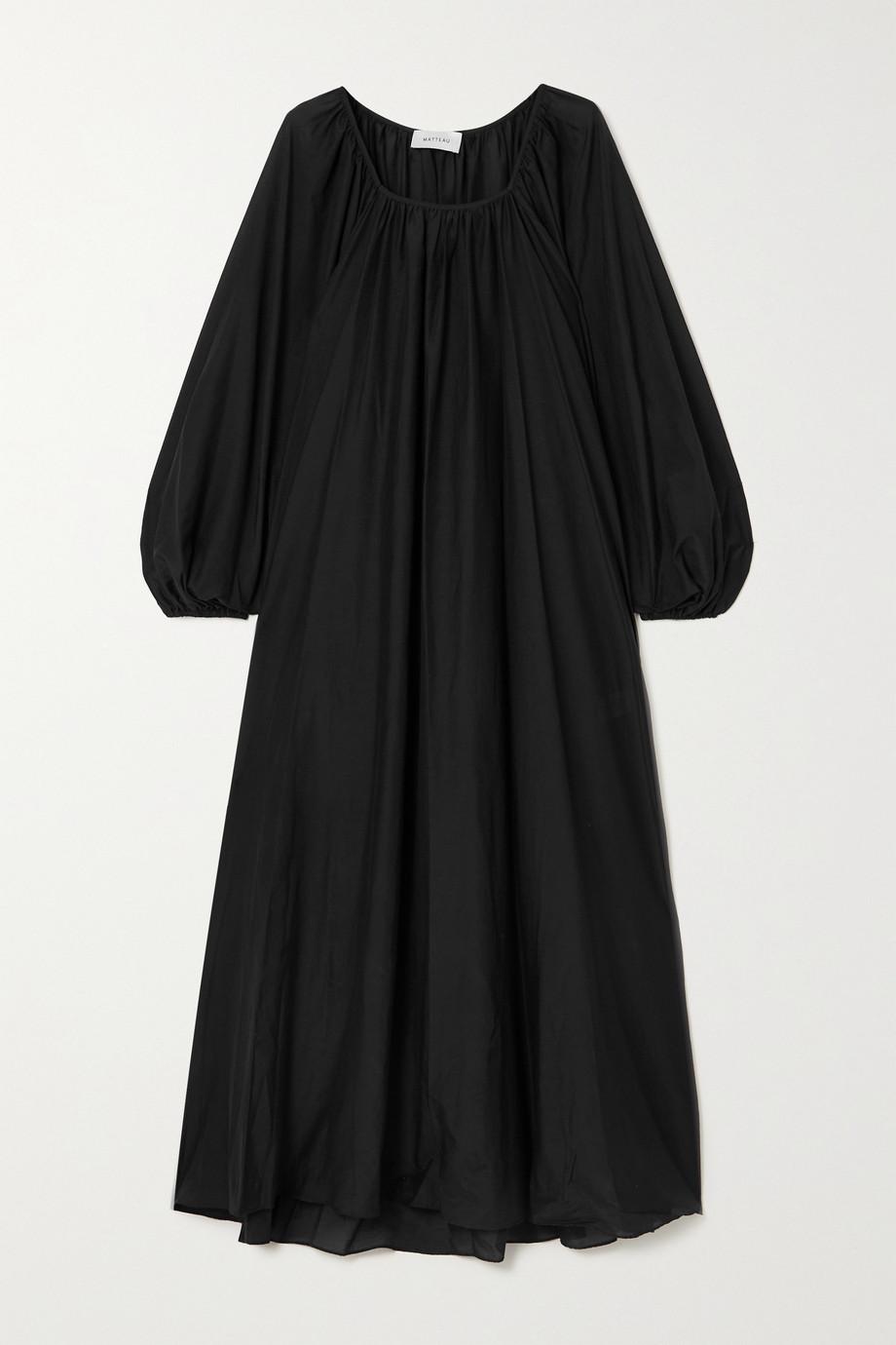 Matteau + NET SUSTAIN Decolette oversized organic cotton and silk-blend maxi dress