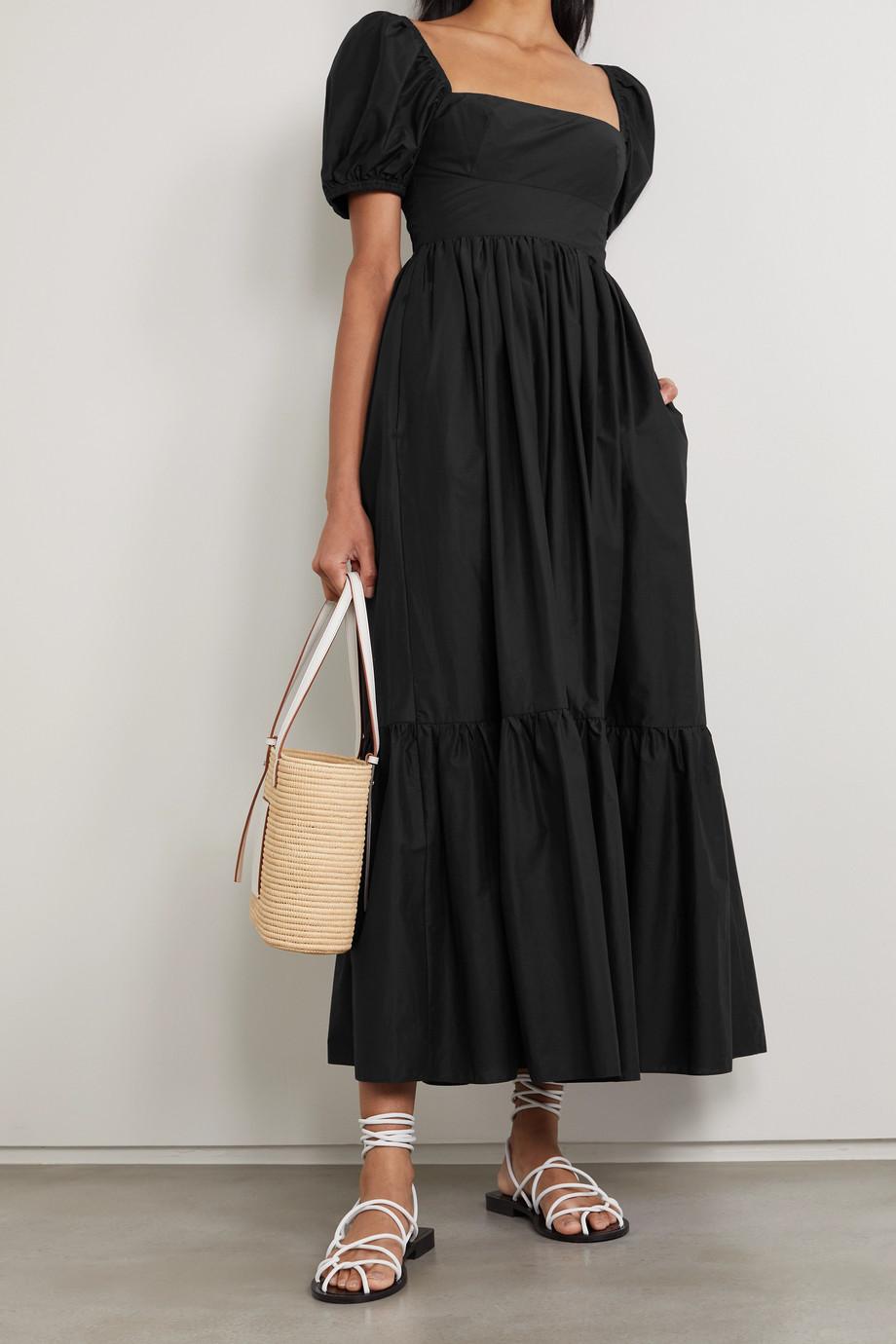 Matteau + NET SUSTAIN tiered organic cotton-poplin midi dress