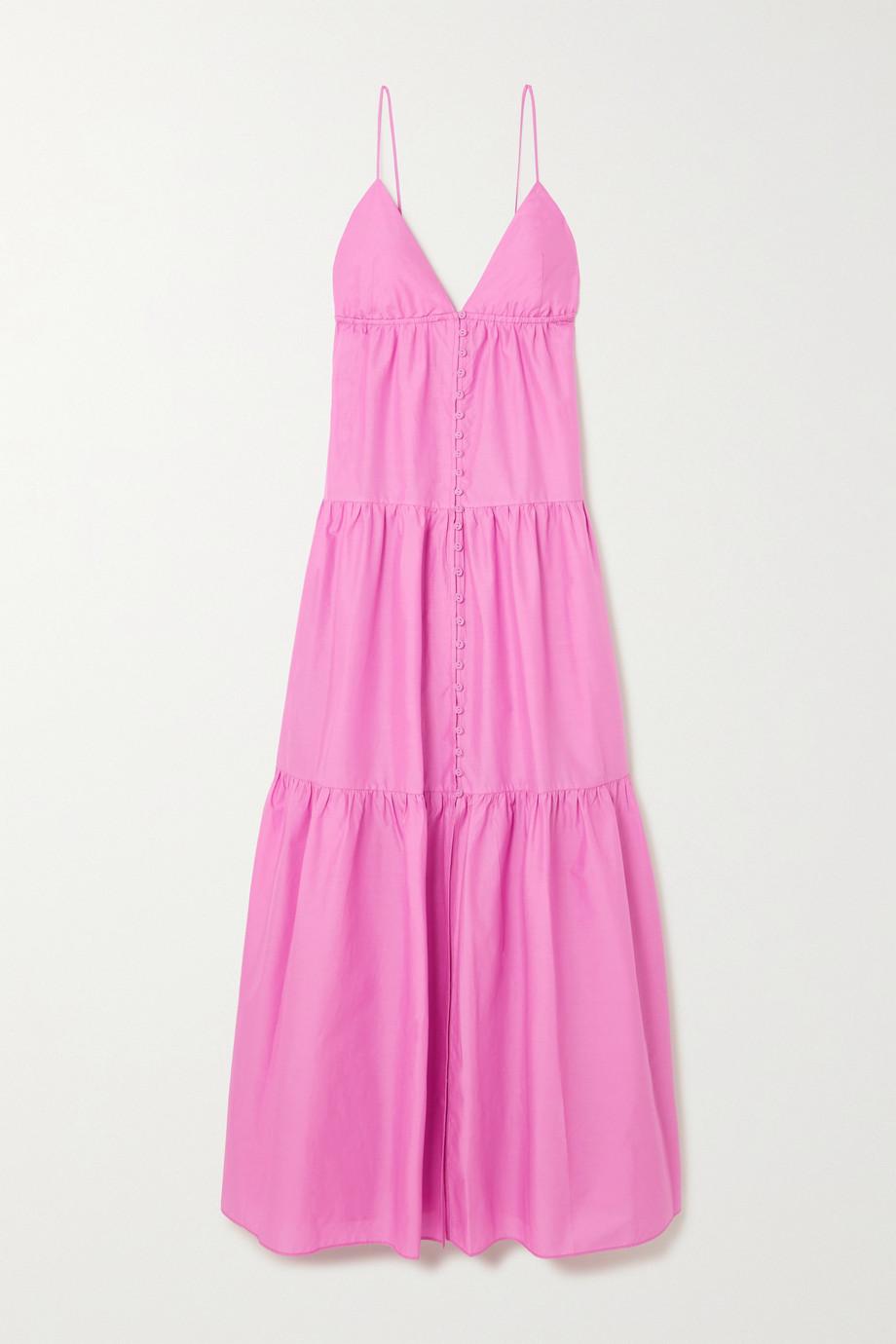Matteau + NET SUSTAIN tiered organic cotton-poplin maxi dress