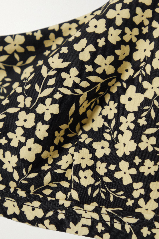 Matteau + NET SUSTAIN The Crop floral-print stretch-ECONYL bikini top