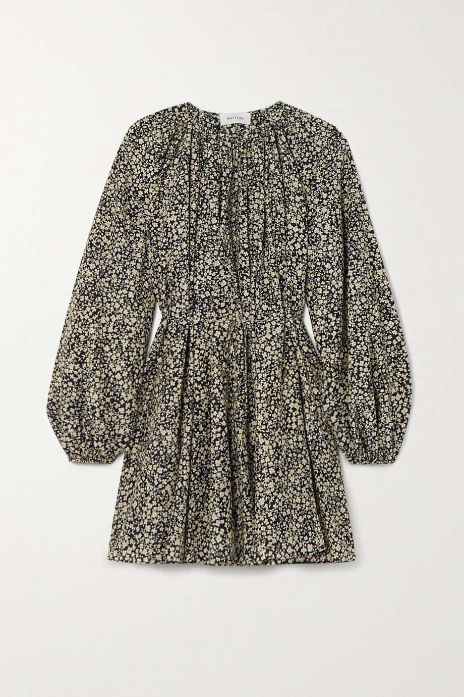 Matteau + NET SUSTAIN floral-print organic cotton and silk-blend mini dress