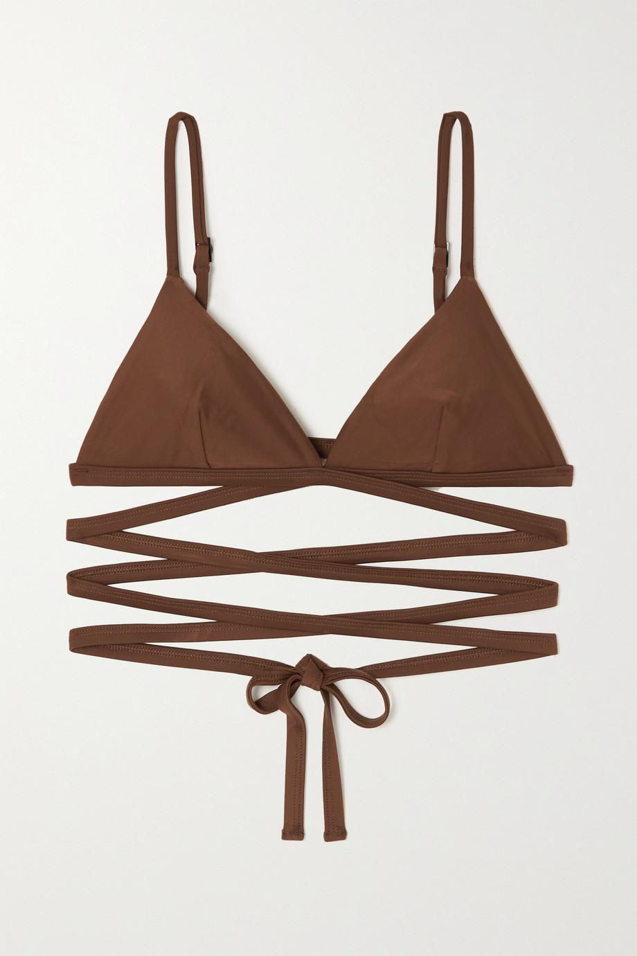 Matteau + NET SUSTAIN Wrap triangle bikini top