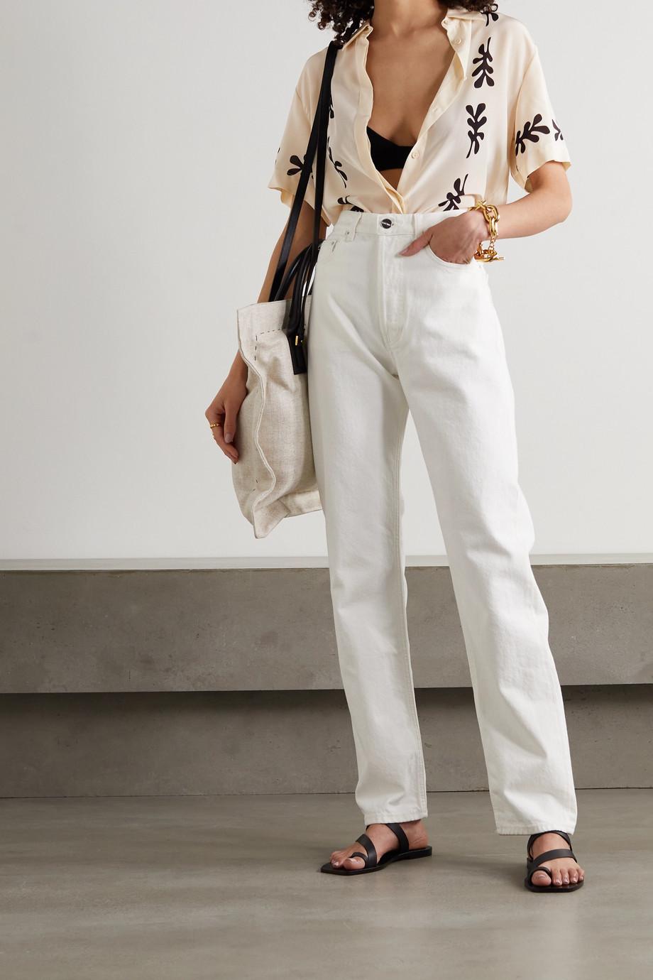 Matteau + NET SUSTAIN printed silk shirt