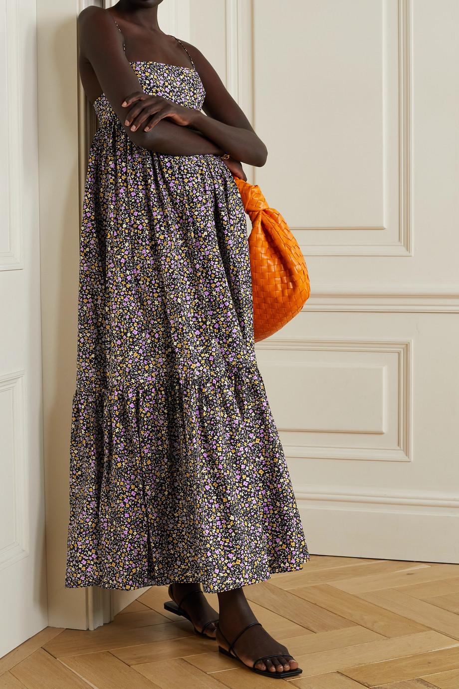 Matteau Robe longue en popeline de coton biologique à imprimé fleuri - NET SUSTAIN