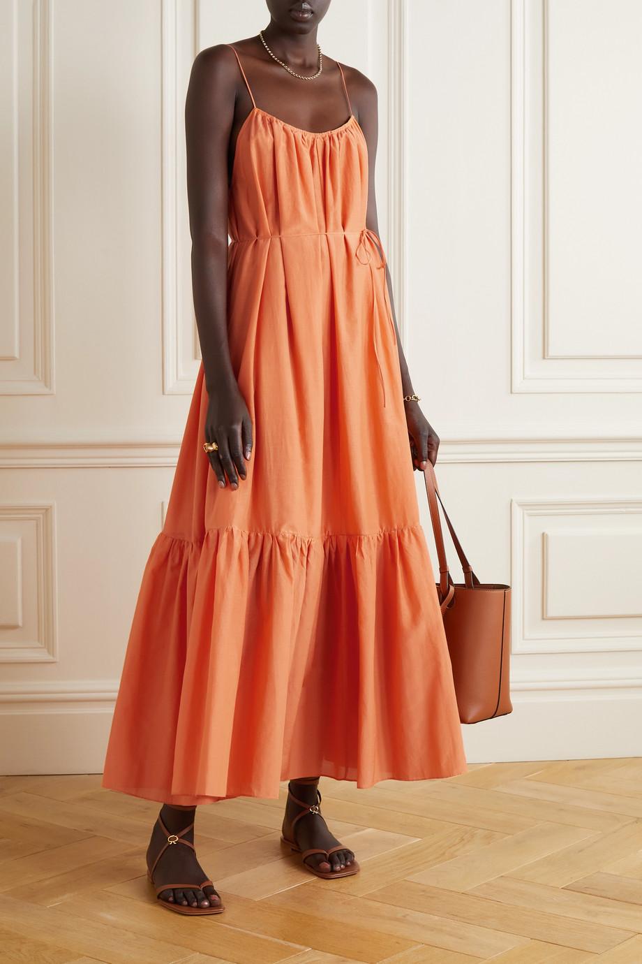 Matteau + NET SUSTAIN organic cotton and silk-blend maxi dress