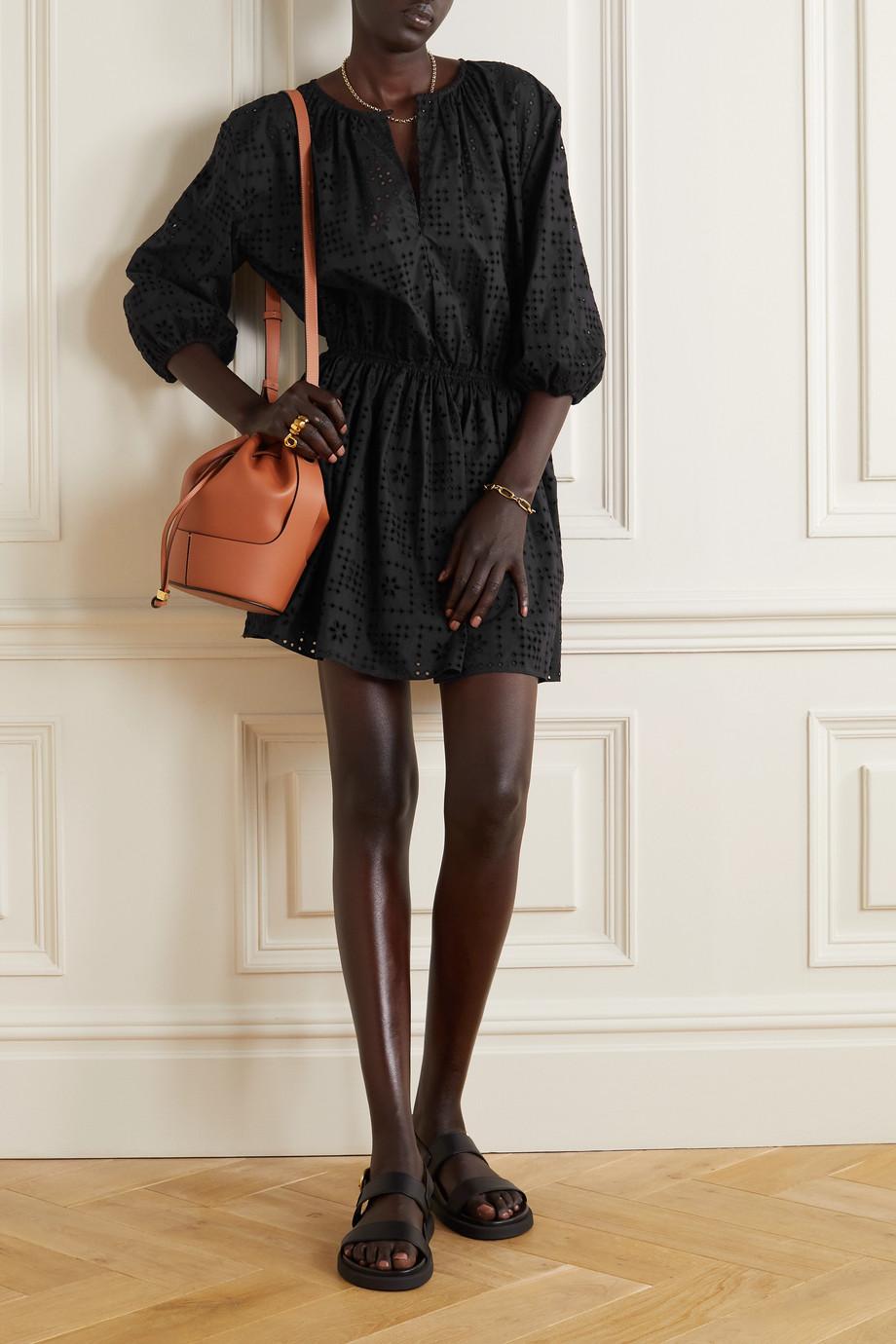 Matteau + NET SUSTAIN broderie anglaise organic cotton-poplin mini dress