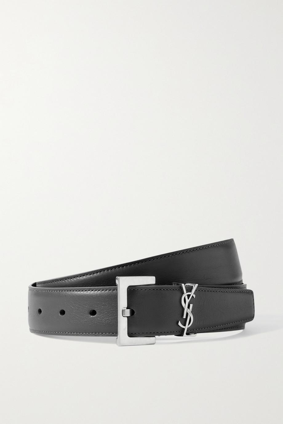 SAINT LAURENT Monogramme leather belt
